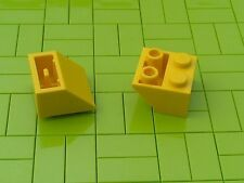 NEW LEGO BRICKS - 50 x YELLOW 2x2 INVERTED SLOPE BRICK 45 3660 -