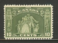 Canada #209, 1934 10c Loyalists Monument - Hamilton Ontario, Unused NH