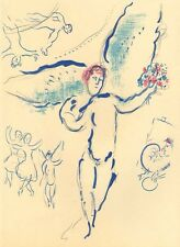 "Marc Chagall Lithograph 13x9 1/2"" Sketch For Firebird"