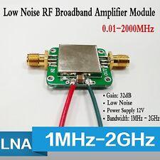 0.01-2000MHz 2GHz LNA Broadband RF Low Noise Amplifier Module VHF/UHF Gain 32dB