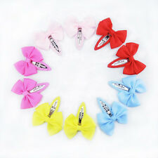 10PCS Candy Baby Girls Children Hair Clips Bow Grips Hairpin Accessories BB Clip