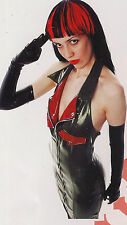THE FEDERATION RUBBER HALTER NECK  MILITARY DRESS  NEW