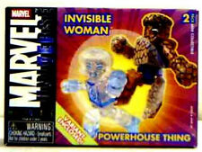 Marvel miniMates Series 8 Fantastic Four Variant Set Thing Invisible Woman.
