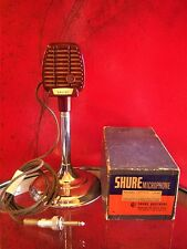 Vintage 1940's RARE Shure 710A crystal microphone deco old antique w accessories
