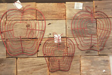 THT Prim Harvest Decor - DIY Red Wire Apple Work Red Swag 3pc Set