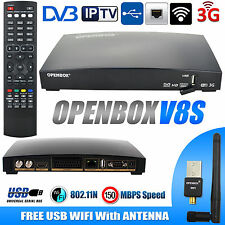 Genuine Openbox V8S Freeset Full HD With Free Wireless WiFi USB Adapter Dongle