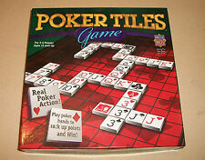 FREE SHIPPING  NIB POKER TILES Board Game  Masterpieces Puzzle Co