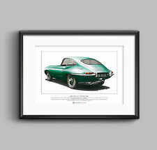 Jaguar E-Type Series 1 Fixed Head Coupe Limited Edition Fine Art Print A3 size