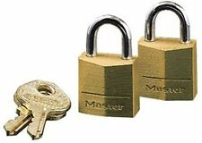 Master Lock Solid Body Padlock - Steel Shackle, Brass (120T)