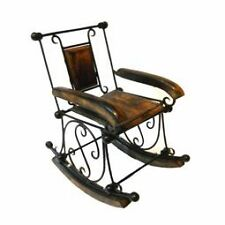 Wooden Rocking Chair Showpiece Home Decor Gift Kids House Room Table Antique