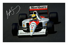 Ayrton Senna Signed Autograph Photo Print Formula One F 1 Motor Racing F1