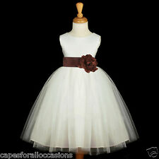 IVORY CHRISTMAS PAGEANT HOLIDAY FLOWER GIRL DRESS 12-18M 2 2T 3T 4 5T 6 6X 8 10