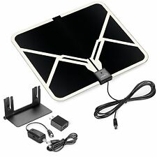 ViewTV Flat HD Digital Indoor Amplified TV Antenna with Amplifier 65 Miles Range