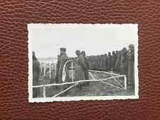 WW2 Original Photograph GERMAN ARMY Soldiers Burial Ceremony Russian Front 1942