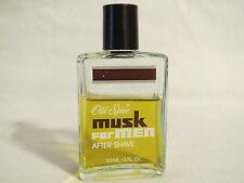 Old Spice Musk After Shave Splash Bottle  3 oz (89ml) Vintage Rare Bottle