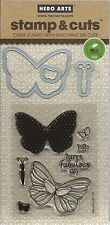 """""""Butterflies"""" Stamp and Cut Set by Hero Arts"""