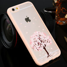 Clear Cherry Transparent Hard Back Case Cover For Apple iPhone 5s 6 6s Plus