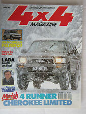 4X4 MAGAZINE N° 102 /PAJERO/4 RUNNER- CHEROKEE LIMITED/HARD TOP pour PICK-UP