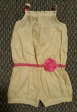 OshKosh B'Gosh Sping Summer Romper one piece yellow pink flower Size 3t