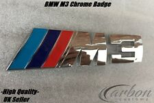 BMW M3 Rear Badge Chrome Trunk Emblem 3 Series M3 E46 E90 E91 - UK Seller -
