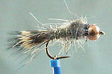 1 x Mouche peche Nymphe Lievre BILLE CUIVREE H12/14/16 nymph fly fishing mosca