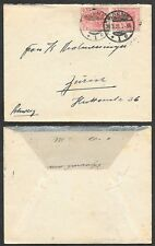 1921 Germany Inflation Cover - Pair of Germania 40Pf stamps