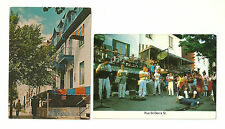 LOT OF 2 RUE ST. DENIS STREET, MONTREAL, QUEBEC, CANADA CHROME POSTCARDS   L-109