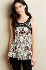 NWT SZ L ANTHROPOLOGIE DALIA TANK TOP BY RANNA GILL FABULOUS AND FLATTERING!