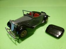 MIKANSUE METAL BUILT KIT 5 CITROEN 11CV ROADSTER 1938 - GREY 1:43 - VERY GOOD