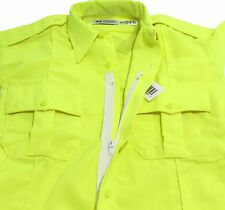 HI-VIS HORACE SMALL SENTRY S/S ZIPPER SHIRT HI-VISIBILITY SAFETY YELLOW 15.5 MED