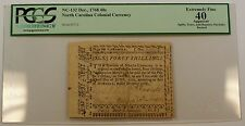 Dec. 1768 40s North Carolina Colonial Currency Note PCGS EF-40 Apparent NC-132