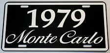 1979 79 MONTE CARLO METAL LICENSE PLATE 350 400 454 SS LOWRIDER NASCAR CHEVY