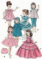 Vintage Doll Clothes PATTERN 7975 for 19.5 Ruth Bride doll Shirley Temple Ideal