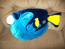 "Disney Store Finding Nemo 15"" DORY Soft Velour Plush Blue & Yellow Tang Fish"