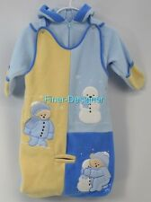 BRIGHT FUTURE FLEECE SNOWSUIT COAT JACKET Bunting car seat 2pc set 0 - 6 mo NEW
