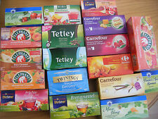 Twenty (20) various mixed decaff organic fruit & herbal teabags, individual bags
