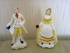 PAIR OF GERMAN PORCELAIN FIGURINES - VICTORIAN - MADE LATE 1800s
