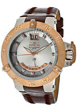 Invicta Subaqua Noma III Retrograde Swiss Quartz Leather Strap Watch 1576 NWT
