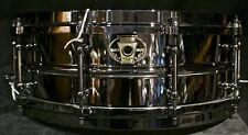 """Ludwig drums Black Magic 5.5"""" x 14"""" Black Nickel over Brass shell snare LW5514"""