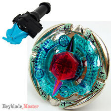 Fusion METAL Beyblade Masters BB95 Flame Byxis+BLUE STRING LAUNCHER+GRIP