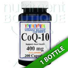 Coenzyme Q-10 400 mg CoQ10 CO Q-10, CoQ-10 200 Caps by Vitamins Because