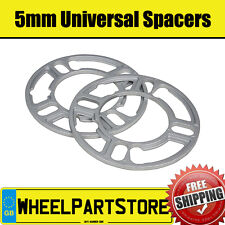 Wheel Spacers (5mm) Pair of Spacer Shims 4x100 for Renault Clio [Mk2] 98-12