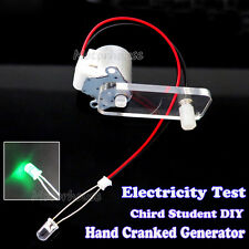 Hand Cranked Generator LED Kit Power Electricity Test for Student Teaching DIY