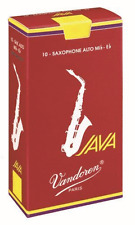 Vandoren Java Red Alto Saxophone Reeds Strength 2.5, Box of 10