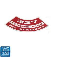 Chevrolet Cars Air Cleaner Cover Decal 327 Turbo Fire 250 HP DC0156