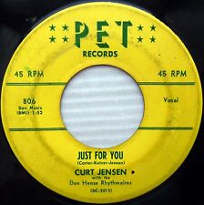 CURT JENSEN Just for you / If I only knew 1958 Rockabilly 45 PET recs 45 cc1315