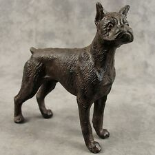BOXER DOG Cast Iron DOORSTOP STATUE