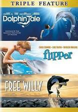 Dolphin Tale/Flipper/Free Willy (DVD, 2014, 3-Disc Set) Triple Feature