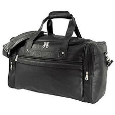 "GP 21"" in Koskin Faux Leather Dual Sport Travel Black Carry-On Runner Duffel Bag"