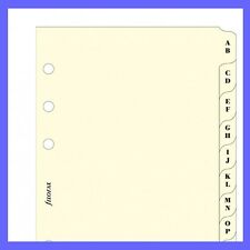 Filofax Pocket Size Diary Insert A-Z Cream Index Divider Refill 211664